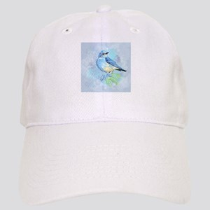 Watercolor Bluebird Blue Bird Art Hat